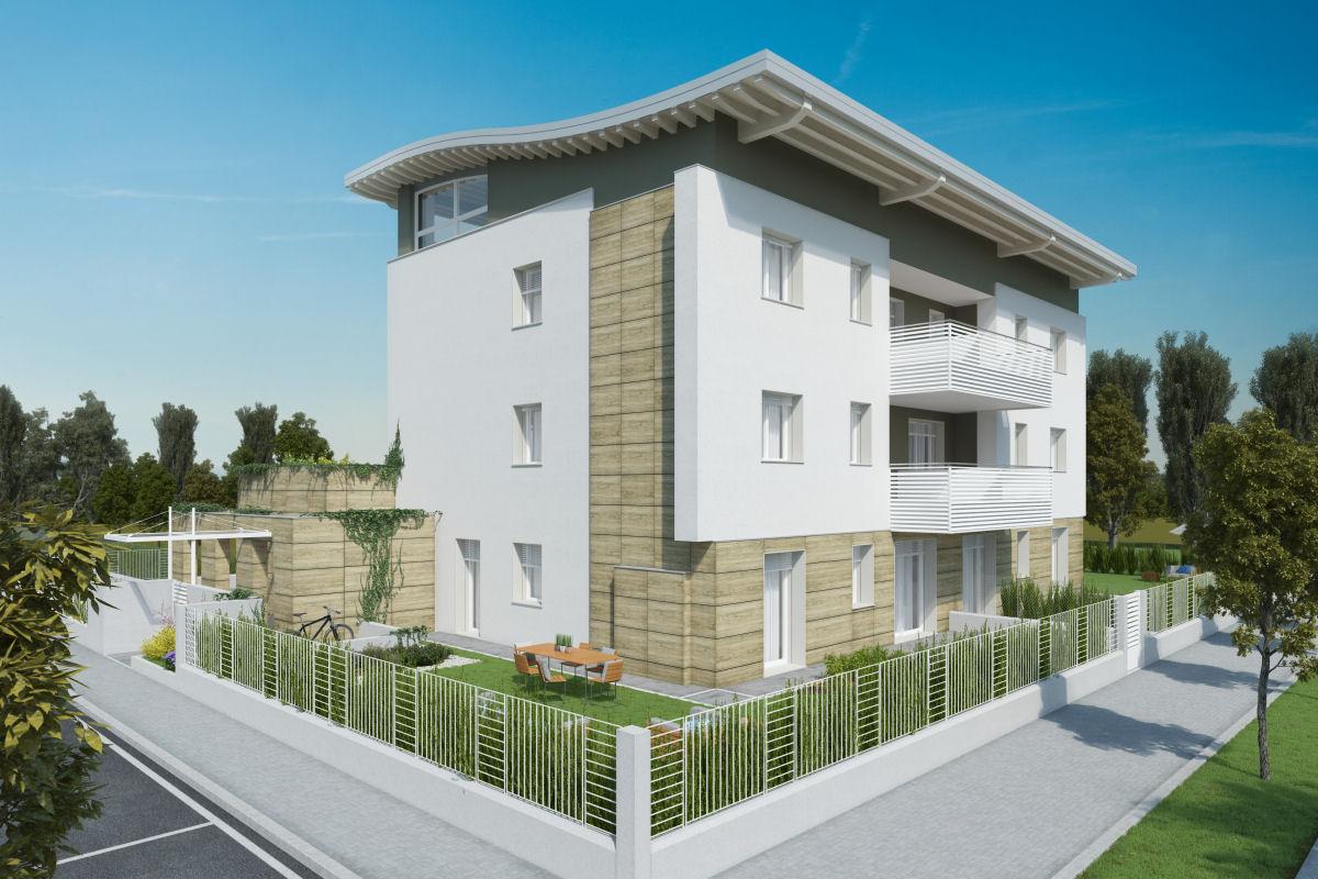 Pellegrini artuso architetti associati mirano edificio for Piani di costruzione di edifici residenziali in metallo